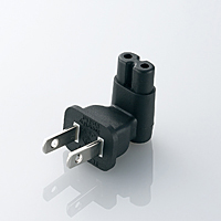 Direct Connection AC Adapter Plug (L-Shaped, 2-Pin)