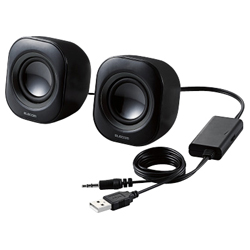Compact Speakers / 4 W / USB Powered / Black