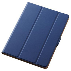 9.7-Inch iPad 2017 Model / Flap Cover / Soft Leather / 360 Degree Rotation / Sleep Mode Compatible / Blue