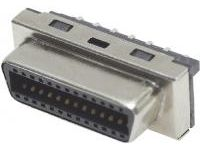 Female IEEE1284, Half-Pitch Connector, EMI-Countermeasure, Solder Connector