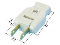 Extension Cord Parts - Swing Plug (Flat 2-Core)