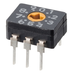 Seal type rotary dip switch A6C / A6CV