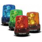 Highly vibration resistant power LED rotation light