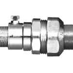 Waterproof combination coupling (waterproof pre-coupling + screwless steel wire conduit)