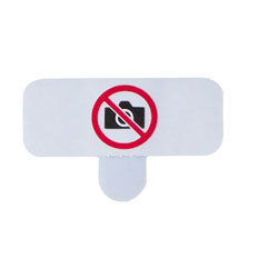 Security Sticker Prohibiting Smartphone and Cell Phone Photography