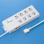8-Outlet Power Strip with Unplugging-Prevention