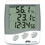 Thermometer and Hygrometer with External Sensors, AD-5680 (with Clock)