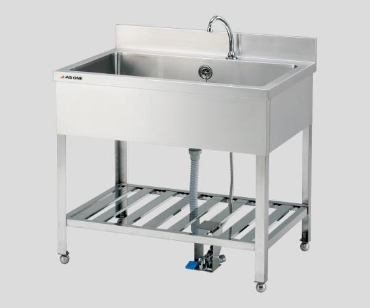 Sink, foot pedal operated
