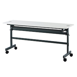 Folding Table with Wiring Function 1500 x 600 x 700 White