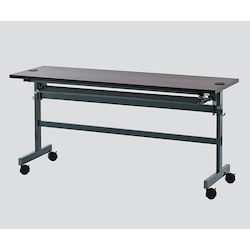 Folding Table with Wiring Function 1800 x 450 x 700 Dark Brown