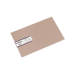 PVC Plate 0.5x200x300 mm Transparent Smoke