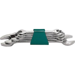 Chrome Plated Double Open-End Wrench Set