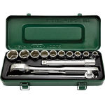 Socket wrench set (6 sided type / 12.7 mm Insertion Angle)
