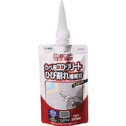 Single Action Concrete Crack Repair Material for Walls