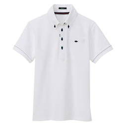 Indoor Drying Button-Down Short Sleeved Polo Shirt (for Both Men and Women)