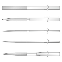 Diamond File for Ironworking, 5-Piece Set