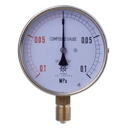 HNT General Purpose Compound Gauge, Vibration-Proof Type, Rimless Type (A)