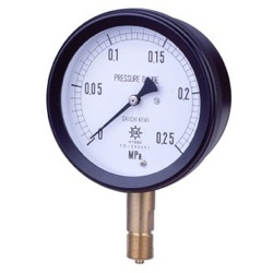 MPK Metal Closed Pressure Gauge SUS, Vibration-Proof Type, Rimless Type (A)