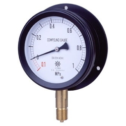 MPK Metal Closed Pressure Gauge SUS, Vibration-Proof Type, Rounded Edge Type (B)