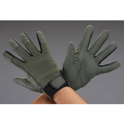 [OD Green] Leather Gloves (Synthetic Leather) EA353JB-6.5