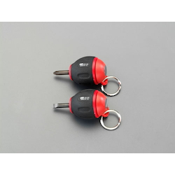 (+)(-) Stubby Screwdriver Set With Ring EA557AY-20