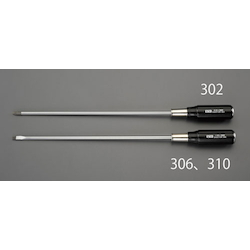 (-) Penetration Wood Handle Long Screwdriver EA557DR-306