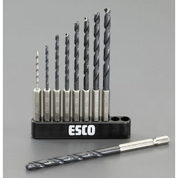 [Hexagonal Shaft]9 Pcs drill Set [HSS] EA824BH