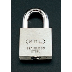 Cylinder Padlock [Stainless Steel] (Common Key) EA983TK-40S