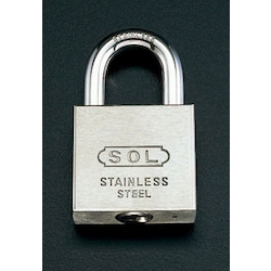 Cylinder Padlock [Stainless Steel] (Common Key) EA983TK-50S