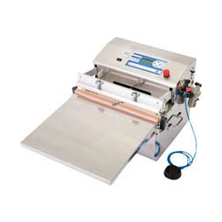 Desktop Deaeration Sealer (Deaeration and Thermal Adhesion Type), Electric Type (with Foot Switch)