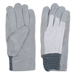 Heavy Duty Leather Gloves - QC-320 Knitted Back