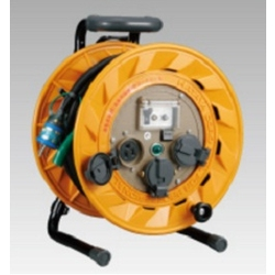 BR-PN301K Breaker Reel (Single-Phase 100 V), 30 m, 2 PNCT Cables, Earthed with Overload Leakage Circuit Breaker, and Temperature Sensor