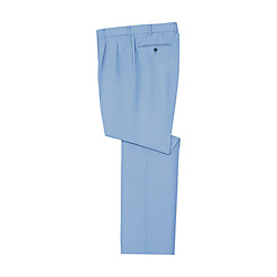 Low-Lint Anti-Static Double-Pleated Pants