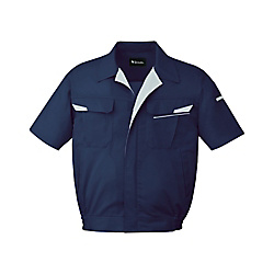 Anti-Static Stretch Short-Sleeve Blouson