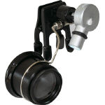 Eye loupe with clip light