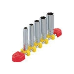 Deep socket set (hex type / 6.3 mm Insertion Angle / with holder)