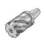 MECH-BT50SA Type (without Coolant Holes) One-Piece Arbor Type (Base Unit + 1 Front Piece + Clamp Bolt)
