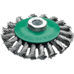 Knotted Bevel Brush, Stainless Steel Wire