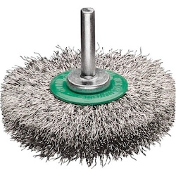 Wheel Brush With Shaft (Shaft Diameter 6 mm) Stainless Steel Wire