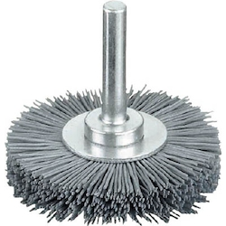 Shaft Mounted Wheel Brush (Shaft Diameter 6 mm) with Nylon Wire Abrasive Grain