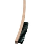 4-Line Long Wooden Handle Hand Brush