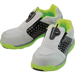 Ventilated Lightweight Pro Sneakers Mandom Safety Light (slip-on type) Lime / Gray