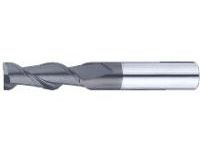 DLC Coated Carbide Square End Mill for Aluminum Machining, 2-Flute / 3D Flute Length (Regular) Model