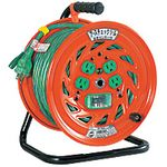 Electrical Drum with Special Function Ground Check Reel, 100 V, with Ground Leakage Breaker 30 m