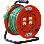 Electrical Drum with Special Function Ground Check Reel, 100 V, with Ground 30 m