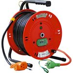 Indoor Single Phase 100 V Earthing with Breaker Exclusive Reel (Extension Cord Type)