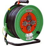 Retractable Electric Cord, Rainproof, with Breaker Electrical Wire Length (m) 50