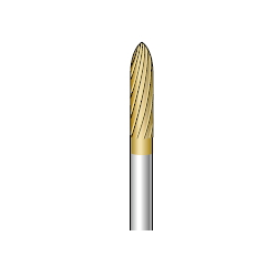 Titanium Coated Carbide Cutter, Shaft Diameter ⌀3.0
