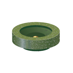 Cup Rubber Grindstone For Impulse Only
