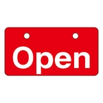 "English Opening and Closing Tags for Valves ""Open (Red)"" V-1"